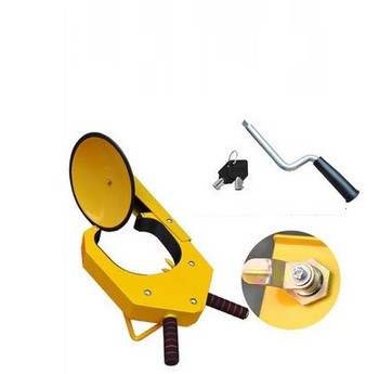 sucking disc type car tyre lock sucker sedan tire clamp lock anti-theft auto wheel clip tool car steering wheel