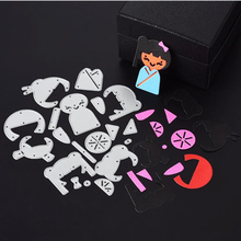 SCD282 beautiful Girl Metal Cutting Dies For Scrapbooking Stencils DIY Album Cards Decoration Embossing Folder Craft Die Cuts