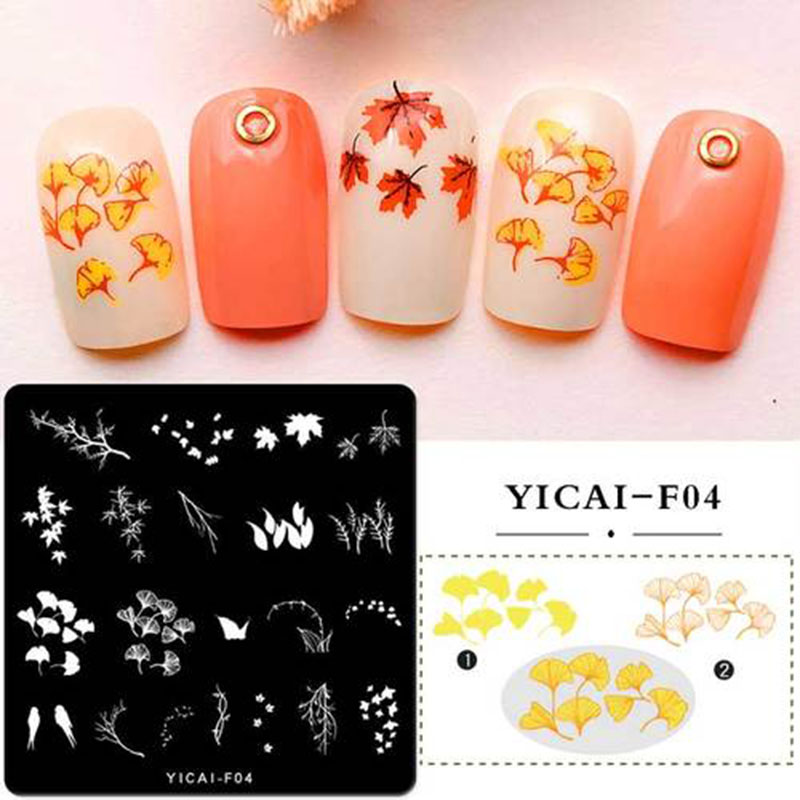 Square 6 6cm Nail Stamping Plates Flower Pattern Nail Art Stamp Stamping Template DIY Image Plate