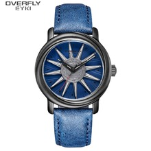 EYKI Brand Men Rotation Watches Man Military Waterproof Mens Watch Male Trend Leather PU Creative Wristwatch