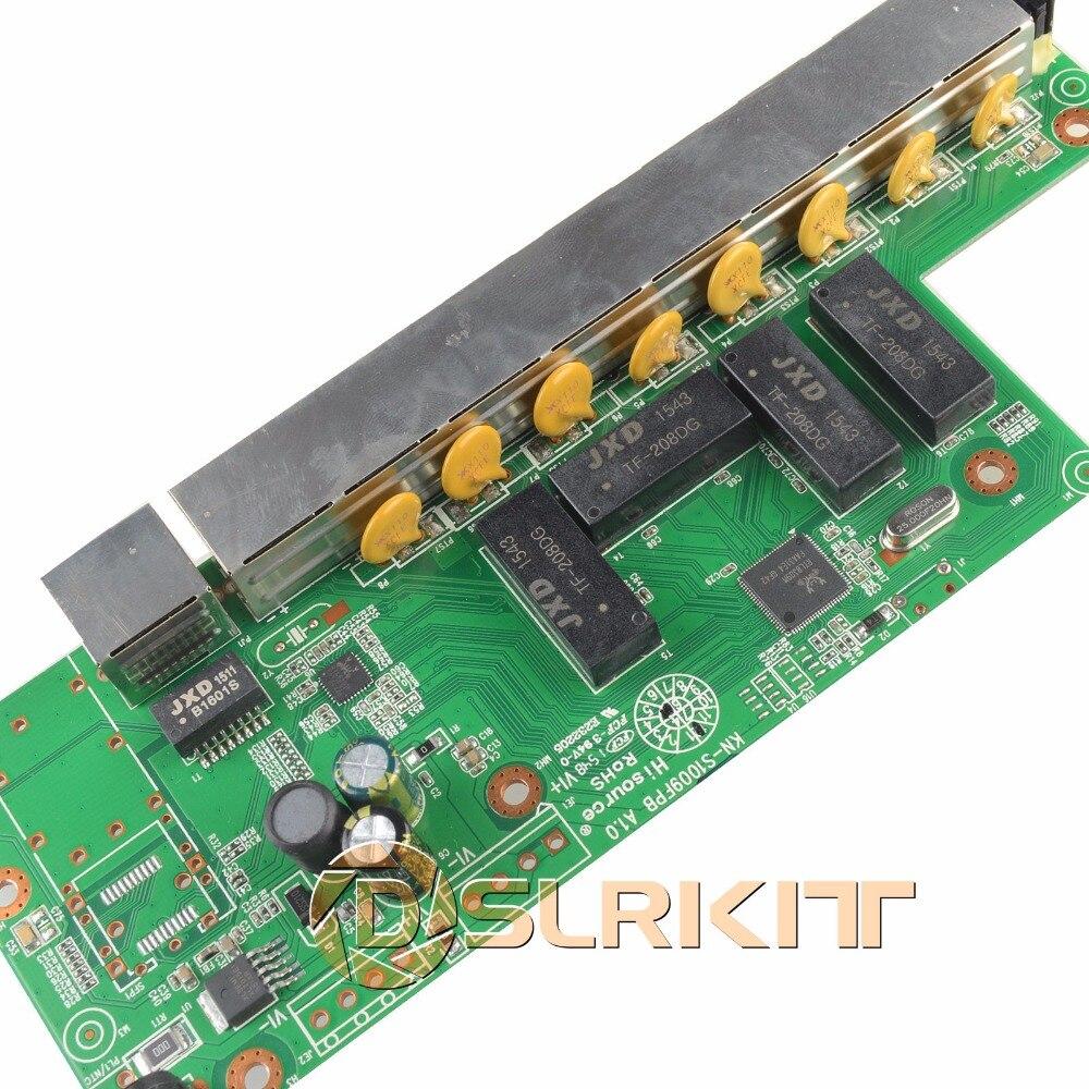 DSLRKIT 9 Ports 8 PoE injecteur de puissance sur Ethernet commutateur 48 V 120 W pour caméra IP/système de caméra AP/CCTV sans fil - 4