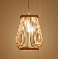 Estilo do sudeste Asiático mão tricô de bambu arte Pingente Luzes Rústico simples E27 CONDUZIU a lâmpada para o alpendre & corredor & agritainment LHDD065|Luzes de pendentes| |  -