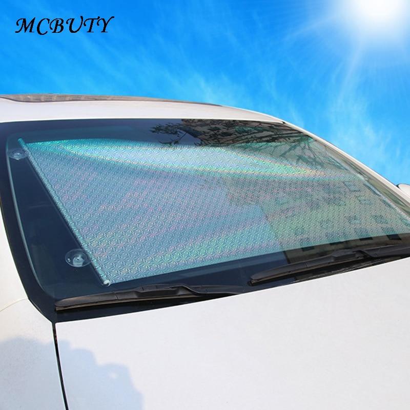 Coche parabrisas parasol rodillo sombrilla Auto telescópica de obturador aislamiento retráctil UV-pantalla de protección 58*125 cm