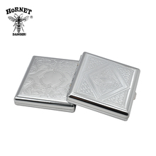 1X Metal Big Size Siver Cigarette Case (91x88MM) Holding 20 Regular Size Cigarettes (85mm*8mm) Tobacco Case Box With 2 Clips