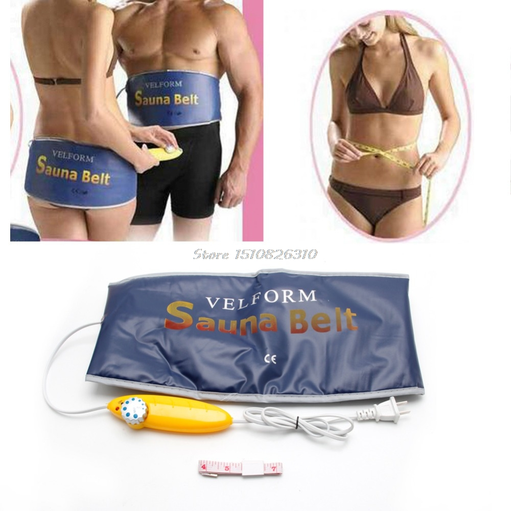 New Electric Body Waist Slimming Sauna Tummy Belt Fat Burner Quick Weight Loss 110V US plug #Y207E# Best Sale made in china vibrating weight loss machine belly fat reducing belt body shaper waist tummy slimming oval swinging movements
