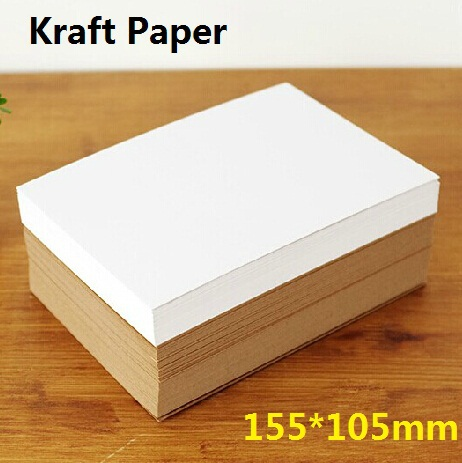 100pcs/lot 152*105mm DIY Multifunction Vintage double Blank Kraft Paper card 350GSM  High Quality Kraft  cards Wholesale