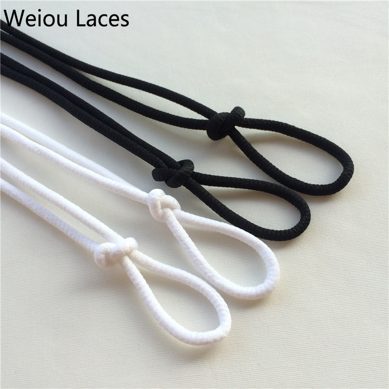Фото (30 Pairs/Lot) Fashion Weiou Round Black Lace Shoelaces Walking Boot Laces Polyester Cord For Sneakers Future Boost 350 750 Gift