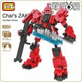 LOZ ideas Diamond Block Gundam Char's ZAKU Robot Action Figure Movie Doll Model Building Blocks DIY Toy Micro Bircks Toys 9351