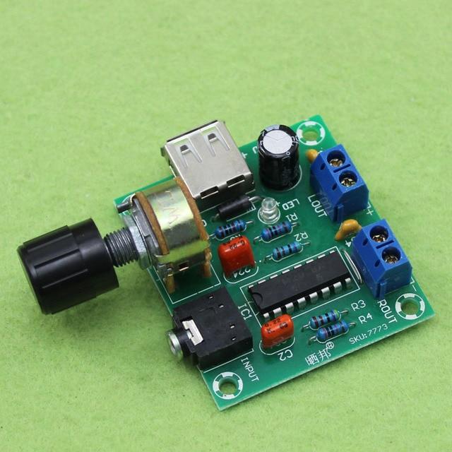 Nhà máy bán USB DC/AC 5 V cung cấp điện ủi/5 Wát + 5 Wát PM2038 mini 2.0 kênh nhỏ board khuếch đại