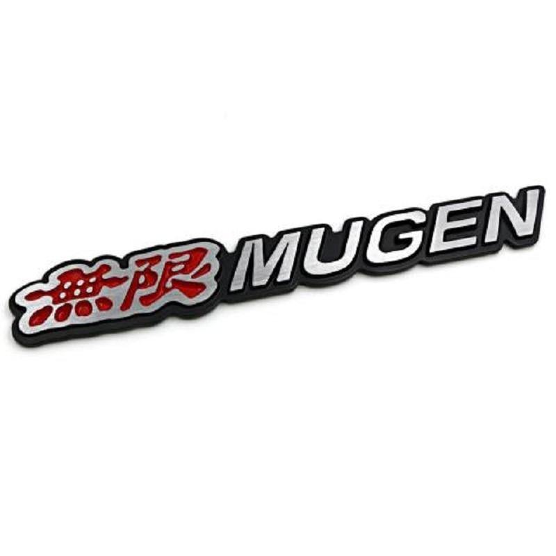 3D Aluminum Mugen Emblem Chrome Logo Rear Badge Car Trunk Sticker Car Styling for Honda Civic Accord CRV Fit and so on