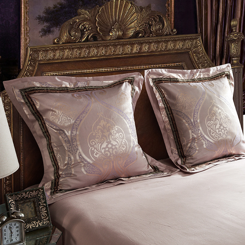 Luxury Tribute Silk 100%Cotton Bed Cushion Pillow Case with Pillow Core Throw Pillow Sleep One Pair 60*60 Bedding Set Capa