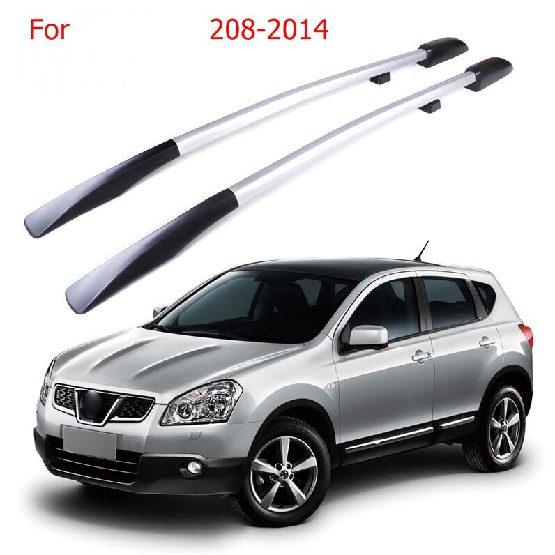 Roof Rack Boxes Side Rails Bars Luggage Carrier A Set For Nissan QASHQAI 2008-2014 2009 2010 2011 2012 2013 silver top roof rack rails luggage carrier bars for honda crv 2012 2013 2014 2015