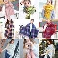 Cachecol de Inverno feminino engrossado longo quente de primavera outono inverno lenço da Manta costura dupla espessamento 190 cm * 65cm-210cm * 60 cm