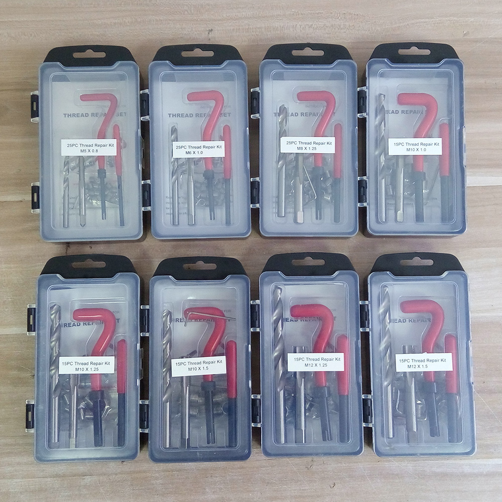 7 Kinds Of Recoil Thread Inserts Installation Kit Repair Tool Drill Tap M5 M6 M8 M10 M12 SK1051
