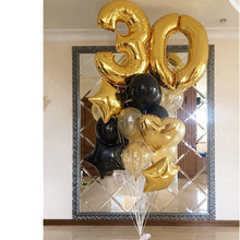 20pcs Lot 18 25 30 Year Old Birthday Party Decorations 40inch Gold Number Foil Balloons