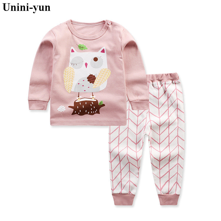 Girls Set owl Animal children's clothing top& Leggings Brand Cotton Children Clothing Kids Autumn Clothes Sets Baby Girl Outfit 2pcs children outfit clothes kids baby girl off shoulder cotton ruffled sleeve tops striped t shirt blue denim jeans sunsuit set
