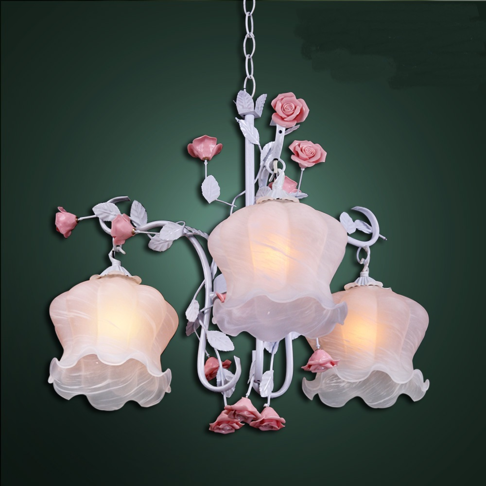 3 HEADS FLOWER Rural style lamps and lanterns lamp pendant lights bedroom lamp Pendant Lights ZL361