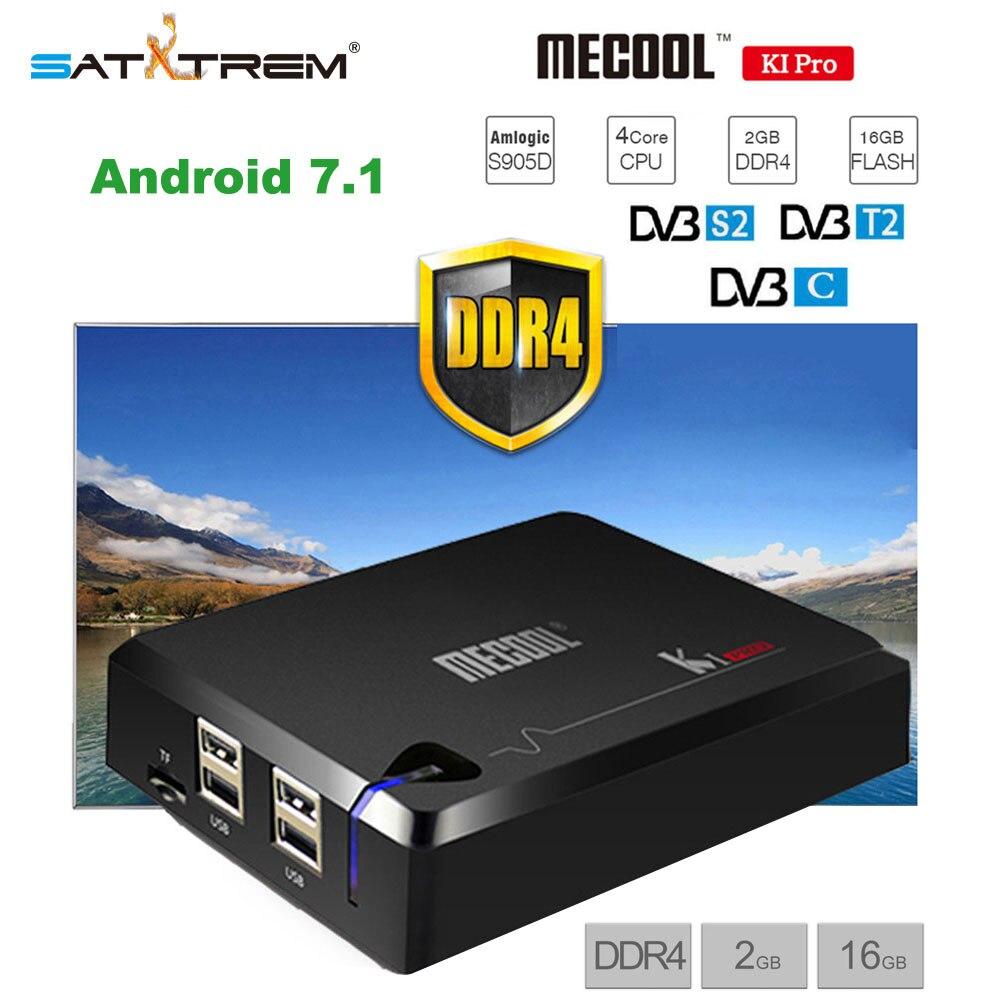 MECOOL KI PRO 2GB DDR4 16GB Rom DVB T2 DVB S2 DVB C Android 7 1