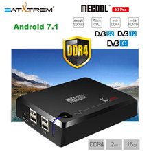 MECOOL KI PRO 2GB DDR4 16GB Rom DVB-T2 DVB-S2 DVB-C Android 7.1 Smart TV Box Amlogic S905D HD Satellite Receiver Support Cccam