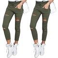 2017 новая коллекция весна и осень женские высокой упругой лулу леггинсы Тонкий был тонкий колготки повседневные брюки моды Отверстие, брюки для женщин
