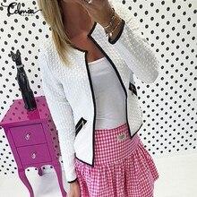 4XL Celmia 2020 Autumn Winter Women Long Sleeve Smart Business OL Office Suit Jacket Feminino Outwear