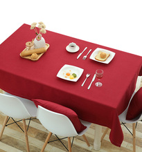 YO HOOM Kitchen Cotton Tablecloth Tablecover Coffee Table Cloth Table Cover Simple Red Color Optional yo hoom kitchen cotton tablecloth tablecover coffee table cloth table cover simple blue color optional