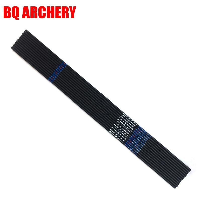 6/12pcs Archery Carbon Arrow Shaft BLUE CE 150 250 32 ID6.2mm Compound Bow Hunting Accessories Archery
