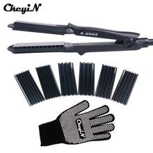 4 In 1 Hair Curling Iron+Heat Resistant Glove Ceramic Hair Curler Roller Electric Hair Straightener Crimper Corrugated Curl 42