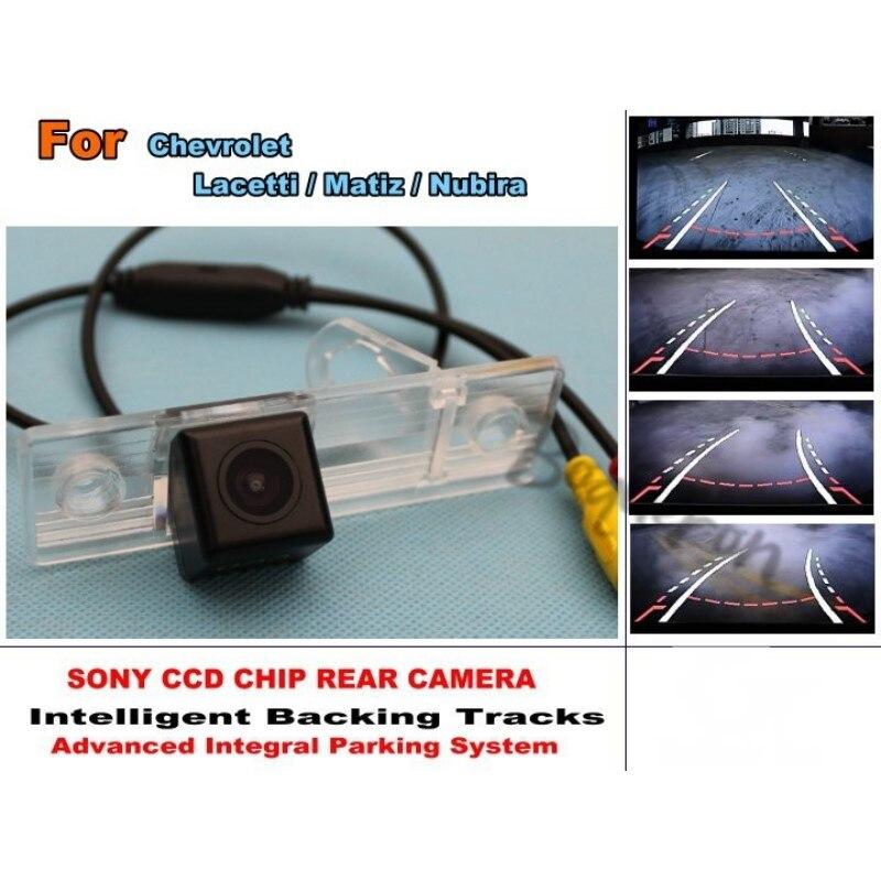 Pour Chevrolet Lacetti/Matiz/Nubira Smart pistes puce caméra/HD CCD Intelligent dynamique Parking voiture caméra de recul