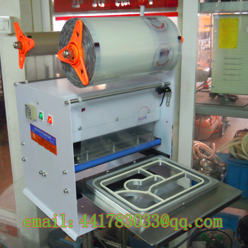 FKJ-HSemi - automatic capping machineautomatic cup sealer automatic cup sealing machine Fish sealer trays