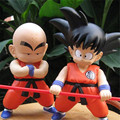 2pcs/lot Dragon Ball Figures High Quality Anime Son Goku/Kuririn Cute Toys Anime Action Figures Kids Toys 21cm Brinquedos