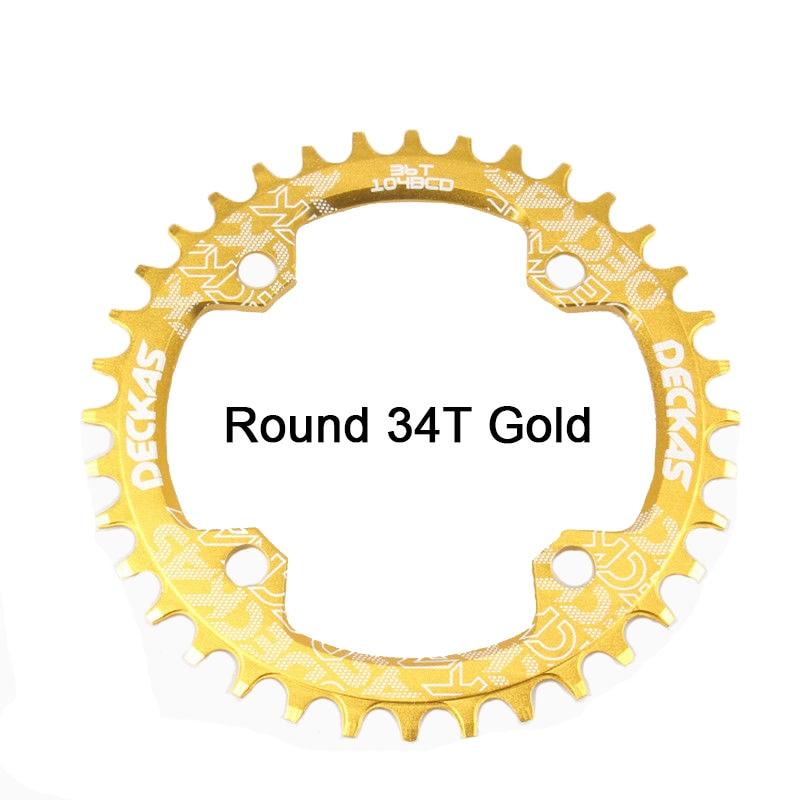 Bike Crank 104BCD Narrow Wide Crankset Single Plate 32T34T36T38T MTB Chainring Bicycle Chainwheel Bike Circle Round Shape (18)