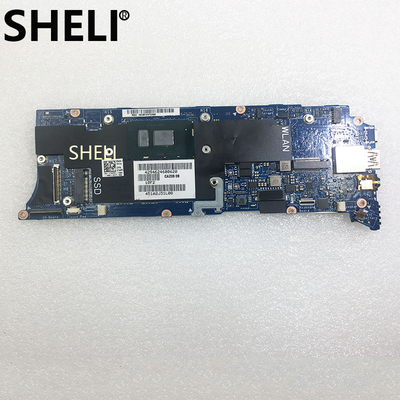 SHELI For  Dell XPS 13 9360 Laptop Motherboard 8GB I5-7200U CPU CAZ00 LA-D841P T9VPC 0T9VPC CN-0T9VPC Notebook Pc Mainboard Good