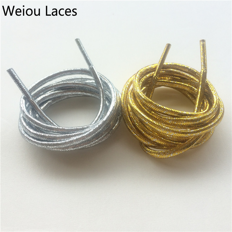 (30 Pairs/Lot) Weiou Gold/Silver Flashing Shiny Shoelaces Metallic Gold Glitter Shoelaces Cool Sneaker Laces For Woman Boots 50pcs vintage design edison filament e27 b22 led bulb g125 40w energy saving decoration lamp replace incandescent light ac220v