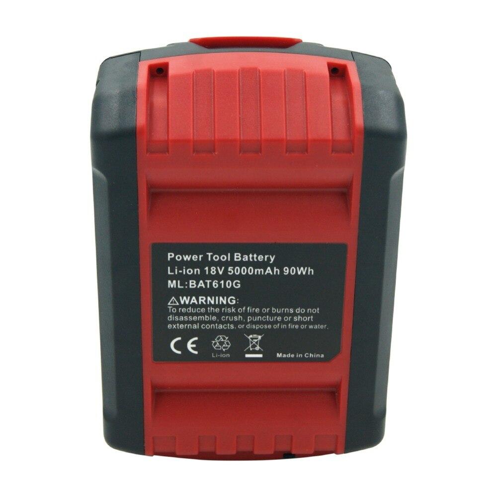 5000 mah 18 v Al Litio Ricaricabile Batteria per Bosch Cordless Trapano BAT619G BAT609 BAT618 BAT621 BAT622 Con LED Idicator