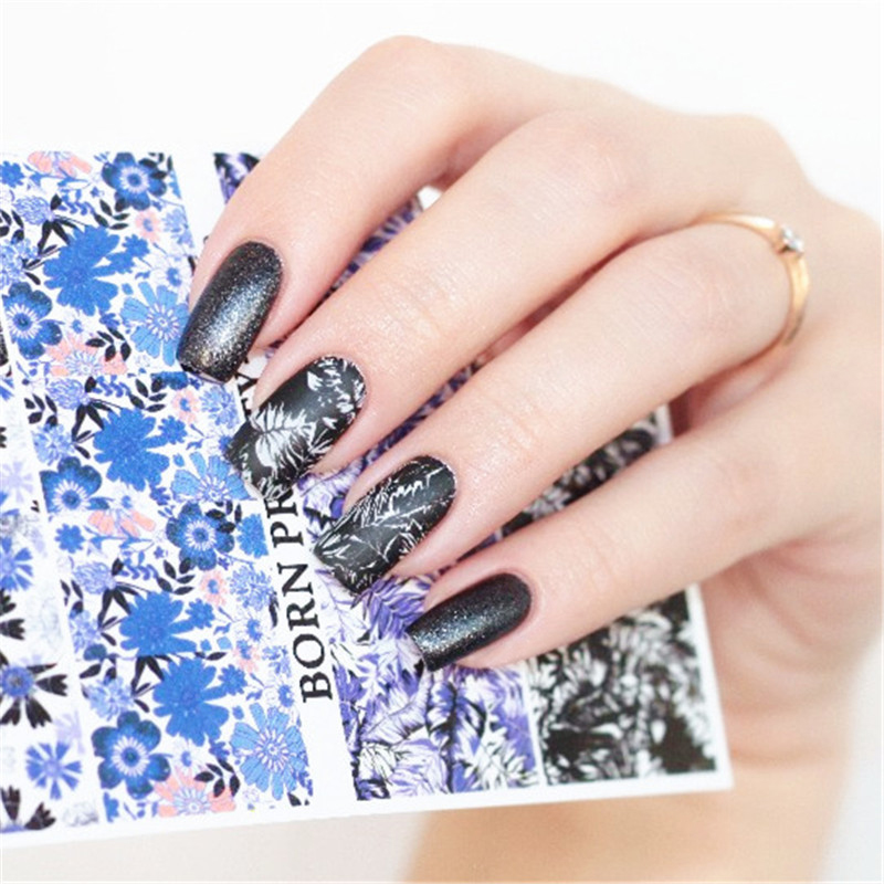 купить 2 Patterns/Sheet BORN PRETTY Flower Leaf Nail Art Water Decals Transfer Sticker BPY39 дешево