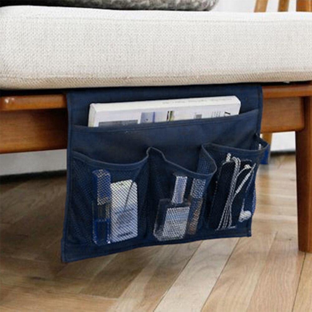 1Pcs Blue Storage Bag Creative Design Desk Cabinet Organizer Sofa Bed Side Hanging