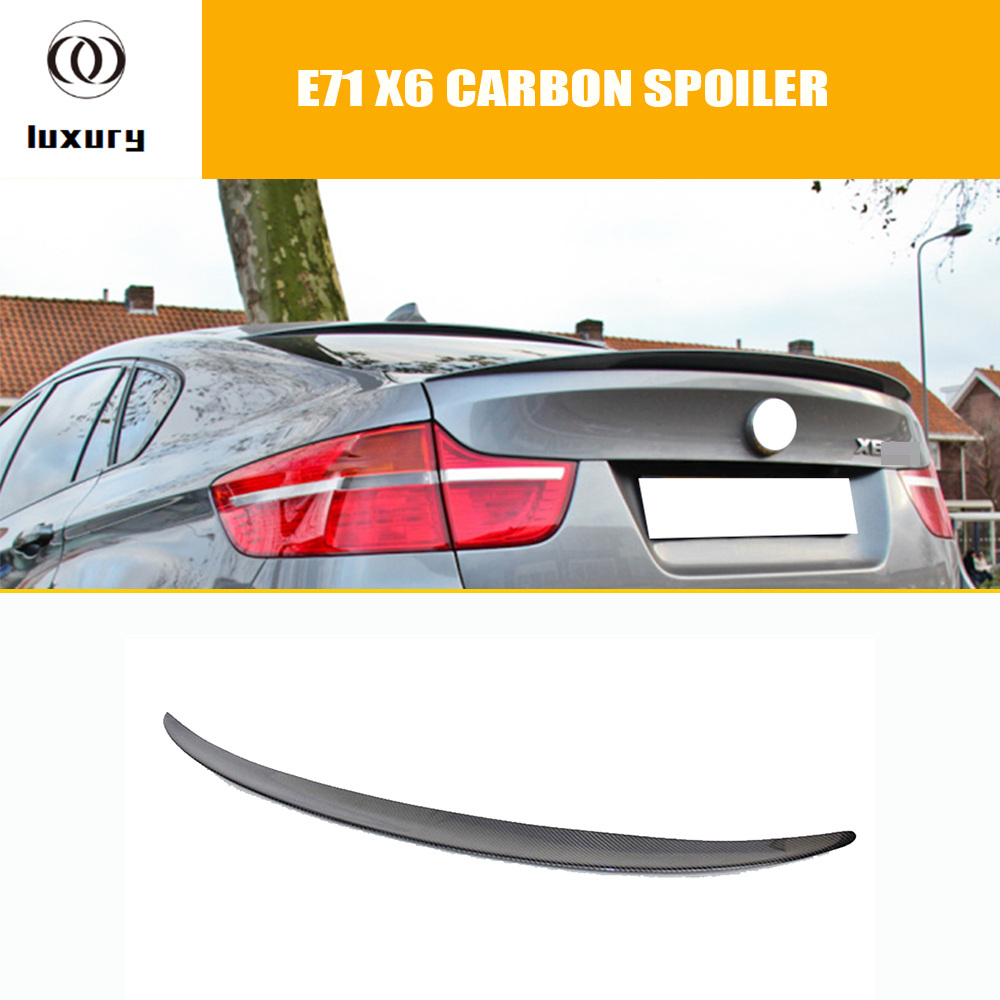 E71 X6 M Performance Style Carbon Fiber Rear Trunk Spoiler Lip Wing for BMW E71 X6 2008 - 2013 P Style