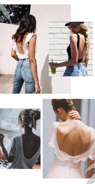 New Sexy Low Back Lace Bralette White Backless Bra dot mesh Ultra Thin Underwear Women Lingerie Sexy Tank Tops Bra 6