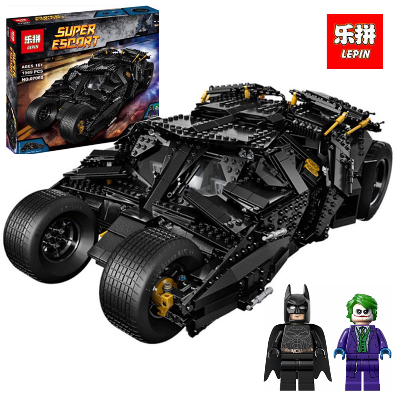 Lepin 07060 1969pcs Super Heroes Batman Chariot The Tumbler Batmobile Batwing Building Blocks Bricks LegoINGlys Toys Gifts lepin 07060 super series heroes movie the batman armored chariot set diy model batmobile building blocks bricks children toys
