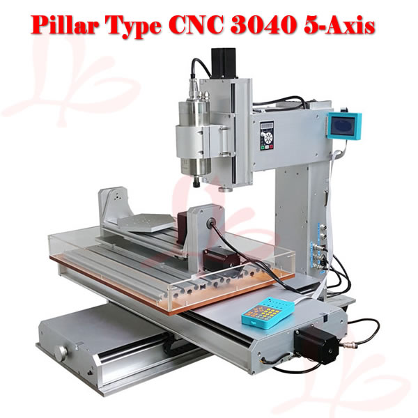 2.2KW spindle 5 axis mini CNC Router 3040 with High Precision Ball Screw