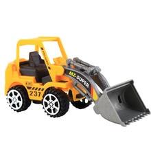1PC Plastic Toy Mini Kid Inertial Vehicles Bulldozer Truck Engineering Car Building Blocks Brick Toy Educational Model Kid Gifts