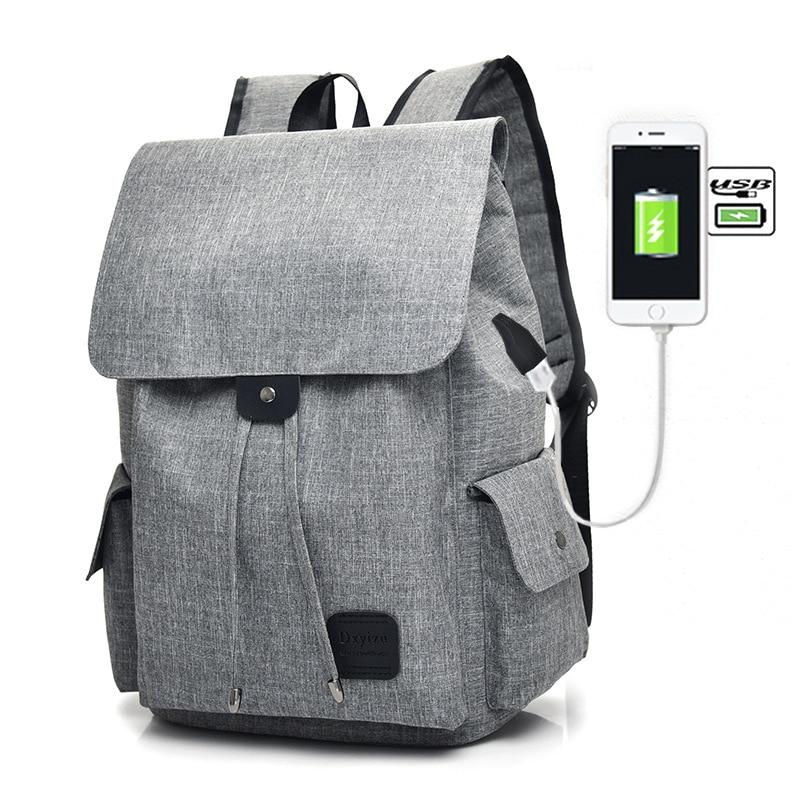 fashion Men Laptop Backpack External USB Charge Computer Backpacks Travel Bags Men Women School Backpack bag teenager boys girls