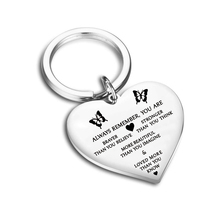 Silver Heart Pendant Keychain Always Remember You Are Braver Than Believe Stronger Seem Smarter Key Ring key chain