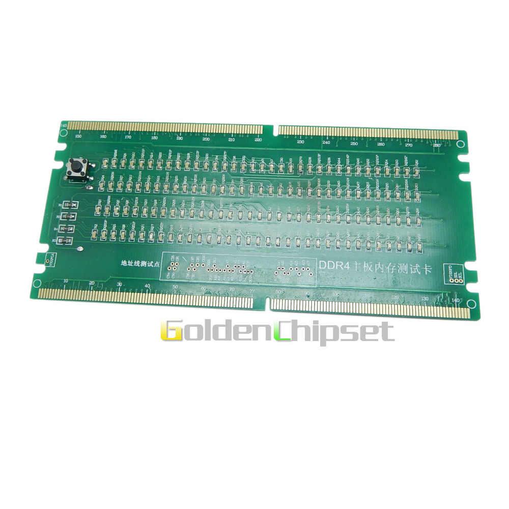 新しいラップトップノートブックメモリスロット DDR4 テストカード SO-UDIMM Led テスターマザーボードの修理テスター DDR4 送料無料 1 ピース/ロット