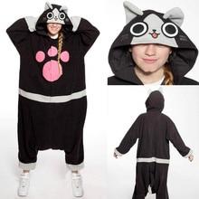 Cat Onesie Pyjama Unisex Cartoon Melynx Pajamas Party Costumes For Women Men Adult Anime Cosplay Costume Black Ellione