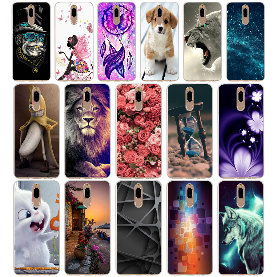 12 Case Cover For Huawei Nova 2i Soft Silicone TPU Cool Patterned Painting For Huawei Nova2i Phone Cases