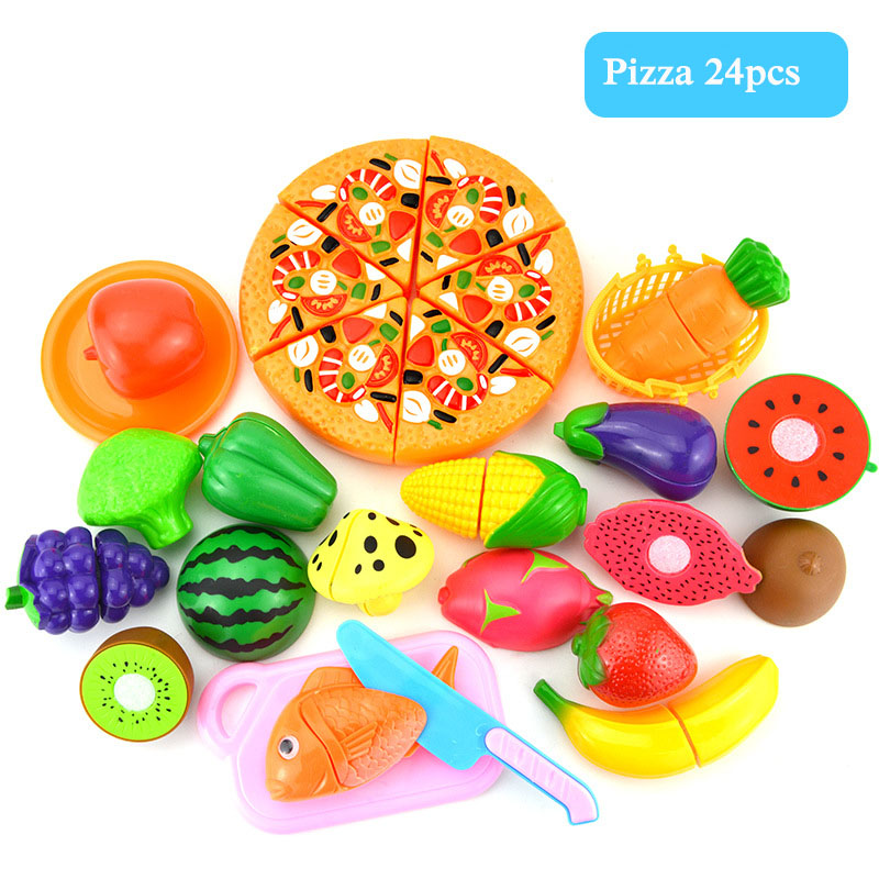 Plastic Fruit Vegetable Kitchen Cutting Toys Early Development and Education Toy for Baby Kids Children