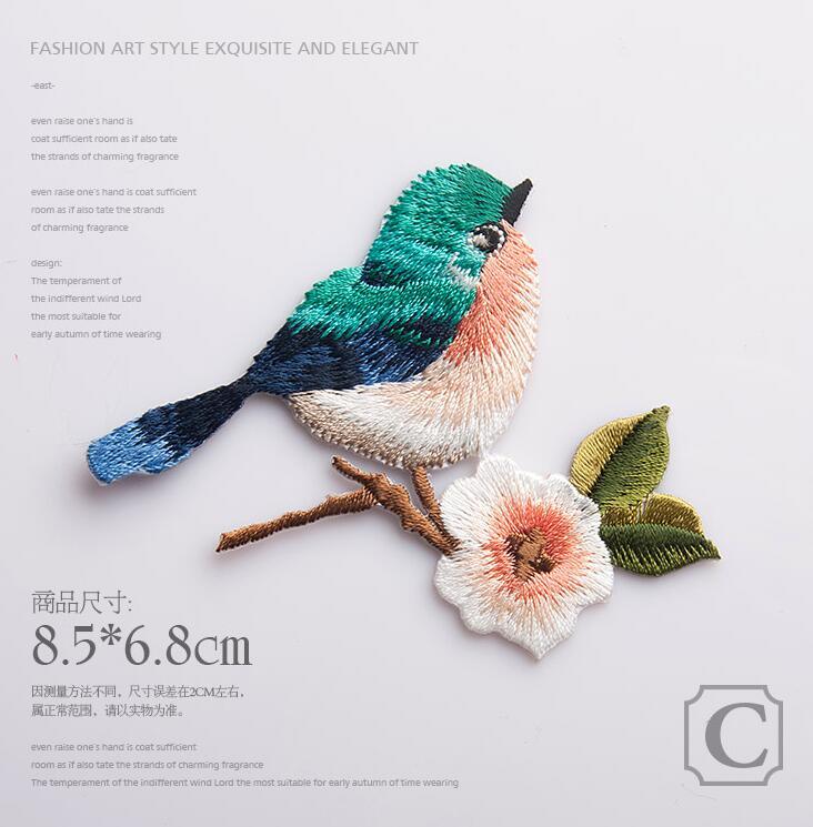 Tienda Online Bordado coser el hierro en los remiendos pájaros para ...