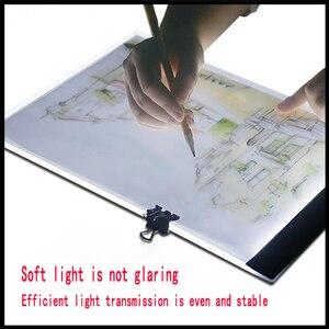 Image 3 - 2019 nowy diament malarstwo A4 LED lightpad cienki rysunek artystyczny podświetlana tablica śledzenie pisanie przenośny elektroniczny Tablet Pad